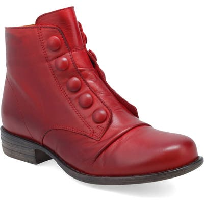 Miz Mooz Louise Slightly Slouchy Bootie- Red