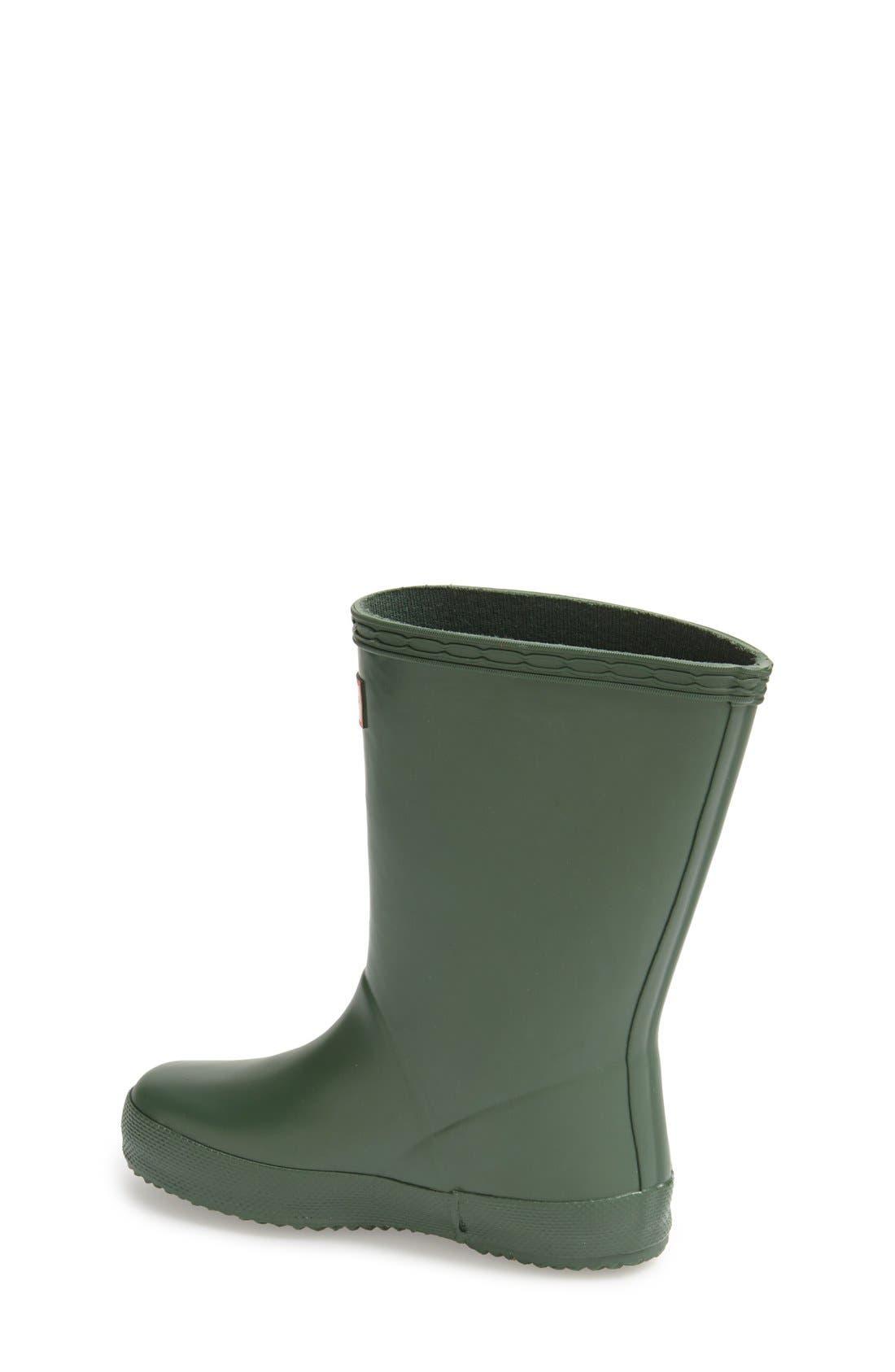 ,                             First Classic Waterproof Rain Boot,                             Alternate thumbnail 2, color,                             HUNTER GREEN