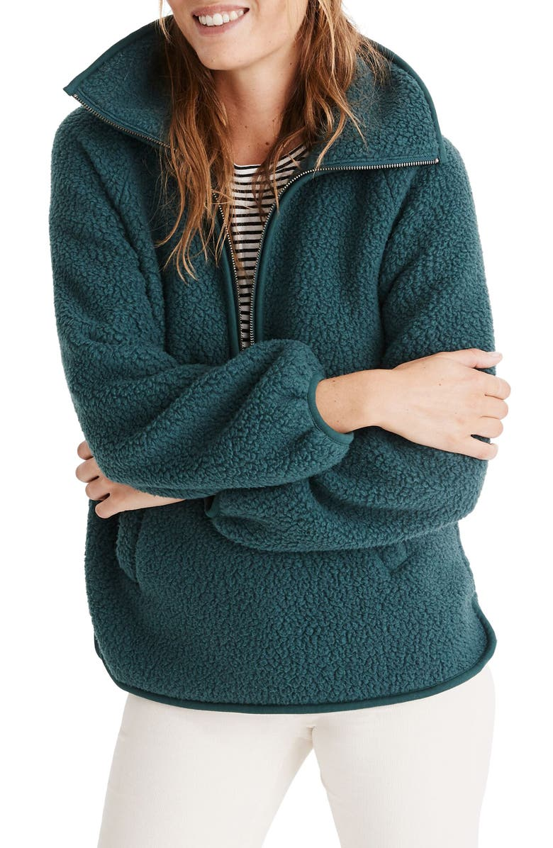 MADEWELL Recycled Polartec<sup>®</sup> Fleece Pullover Jacket, Main, color, 300
