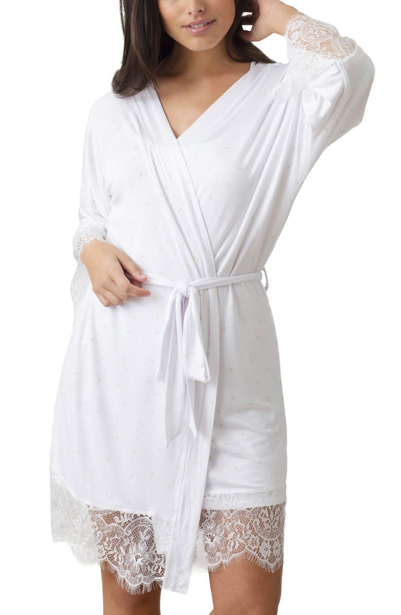 HONEYDEW INTIMATES Lovely Day Robe, Main, color, WHITE FLORAL