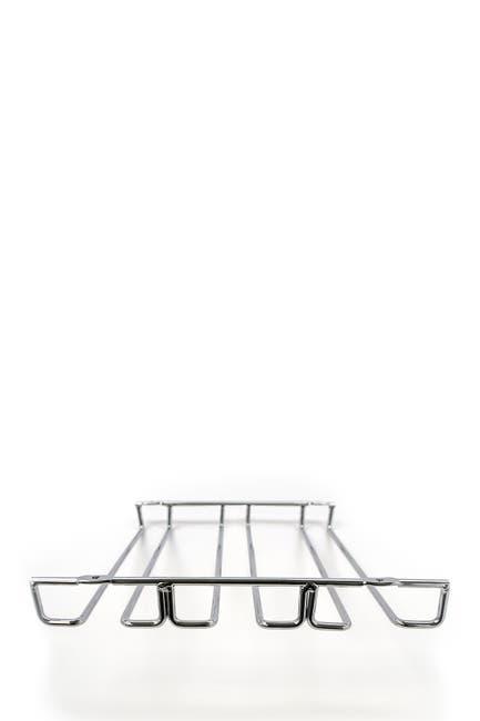 Image of Sorbus Chrome 3 Row Under Cabinet Wine Glass Rack & Stemware Holder