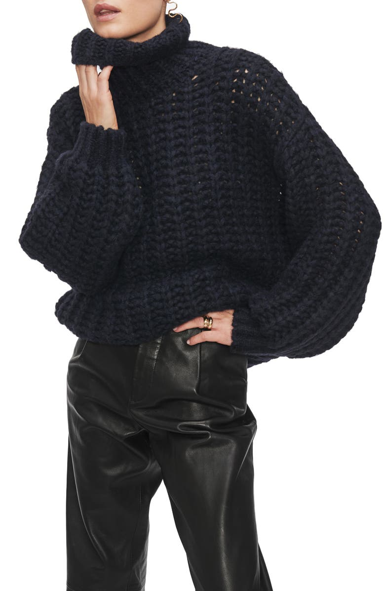 ANINE BING Iris Turtleneck Sweater, Main, color, 400