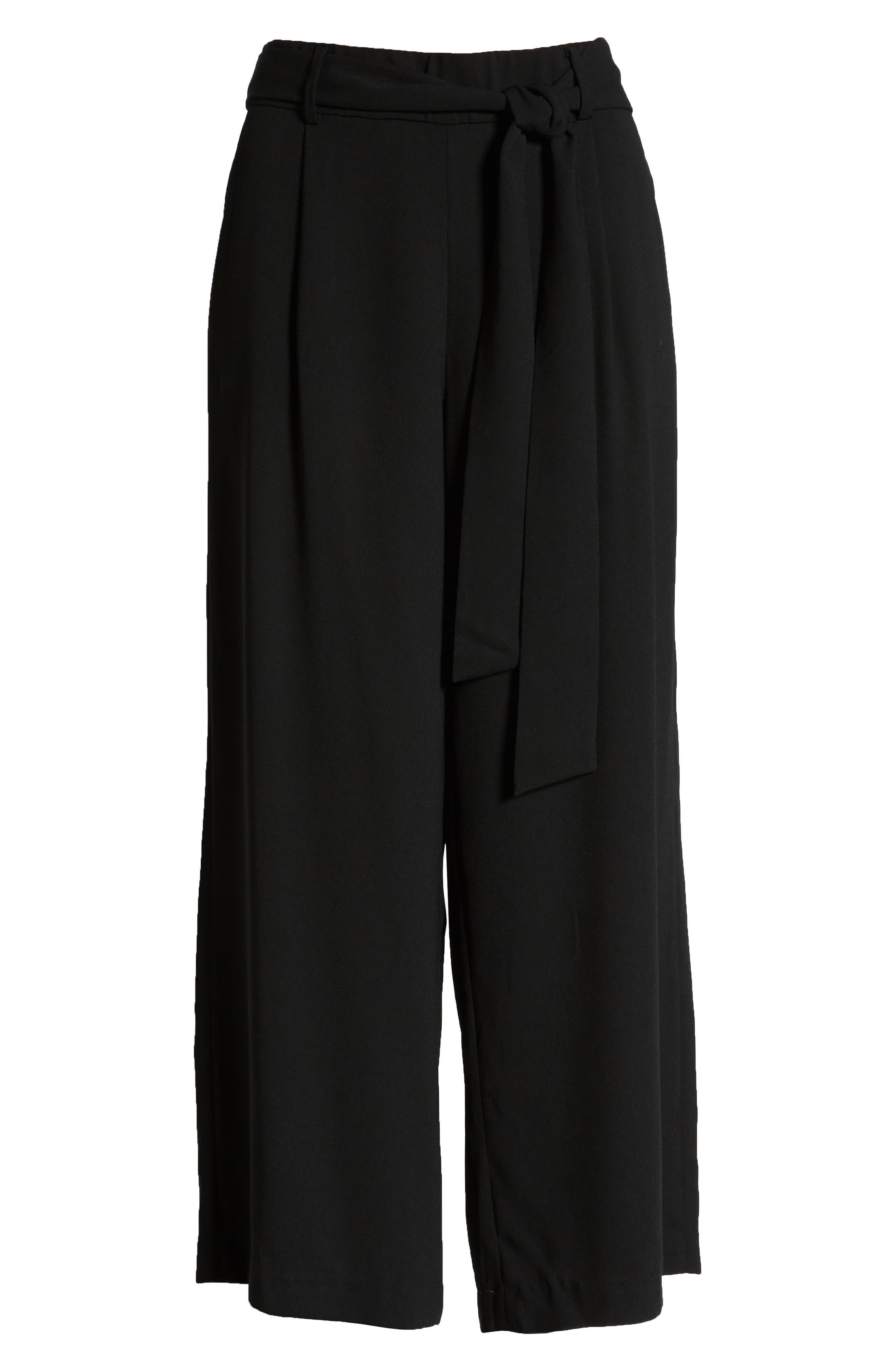 ,                             Wide Leg Crop Pants,                             Alternate thumbnail 107, color,                             001