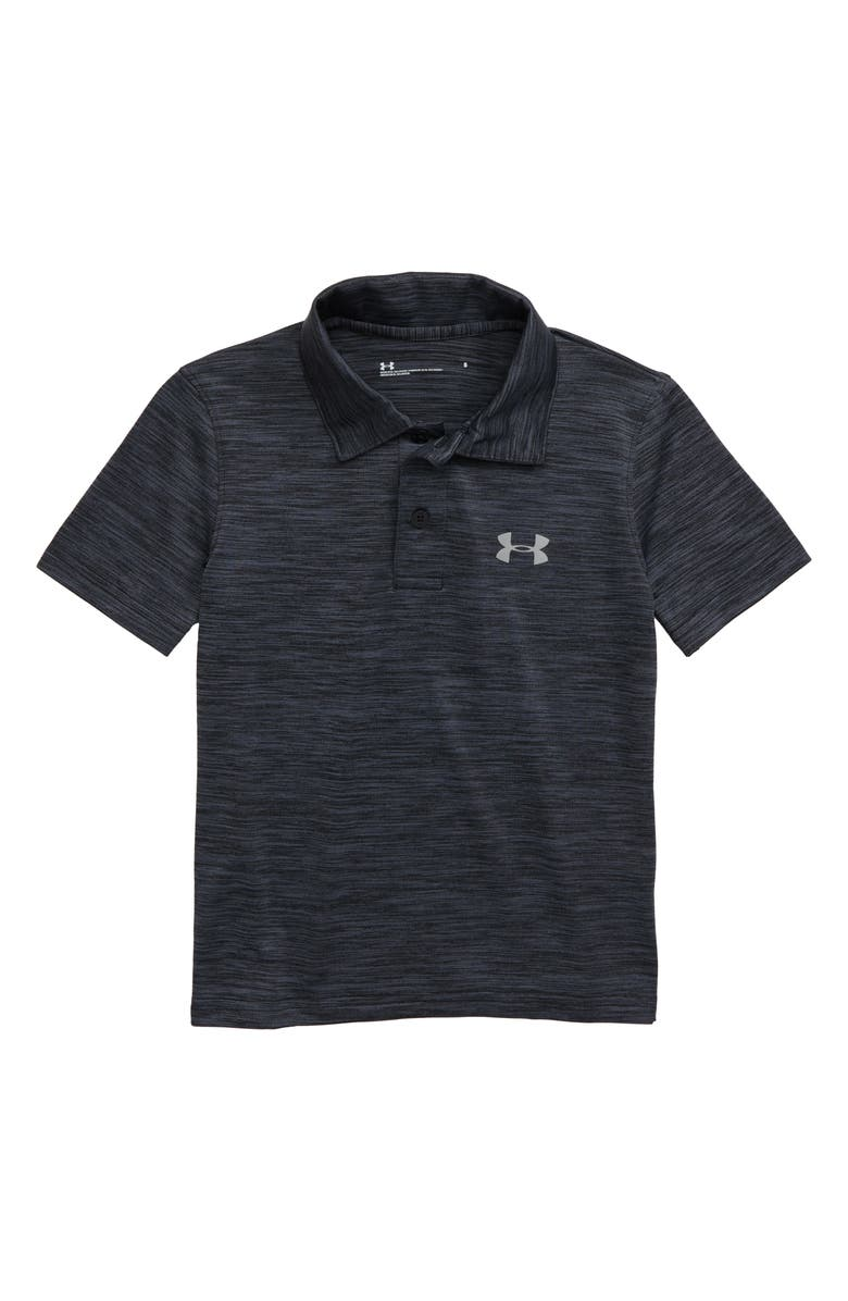 UNDER ARMOUR Match Play Twist Performance Polo, Main, color, 001