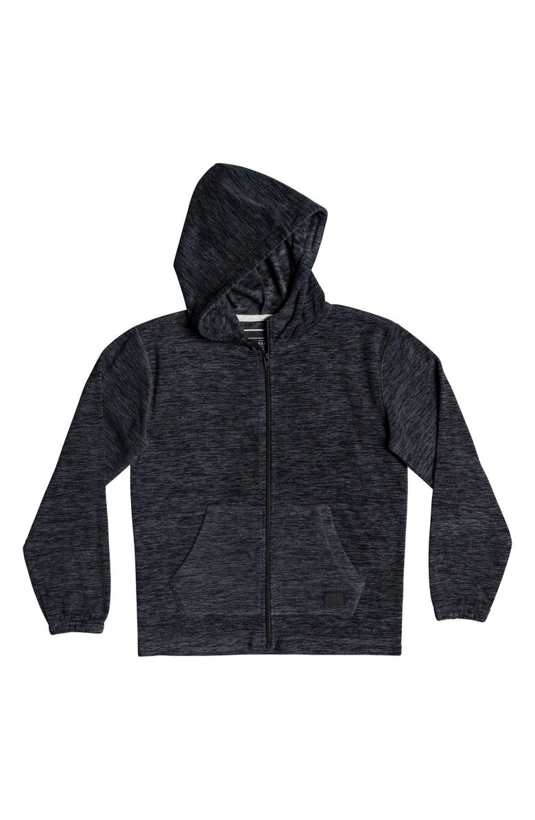 QUIKSILVER Frosted Fire Space Dyed Zip Hoodie, Main, color, IRON GATE