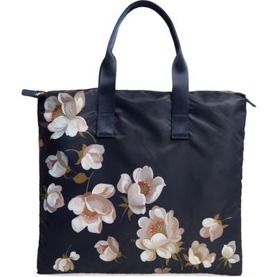 Ted Baker London Gisela Pearl Foldaway Shopper Tote & Pouch - Blue