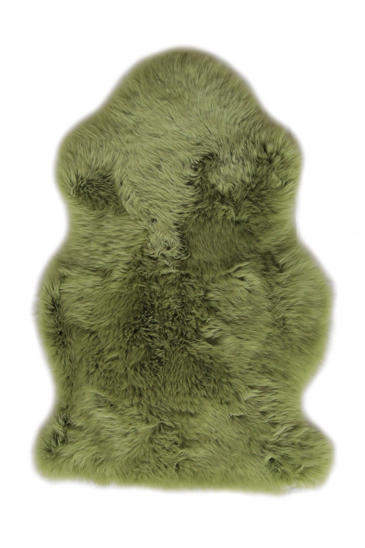 Image of Natural Milan Genuine Sheepskin Shearling Rug - 2ft x 3ft - Lime