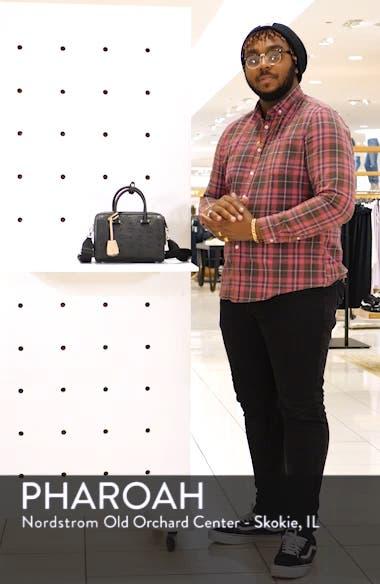 Essential Monogram Leather Satchel, sales video thumbnail