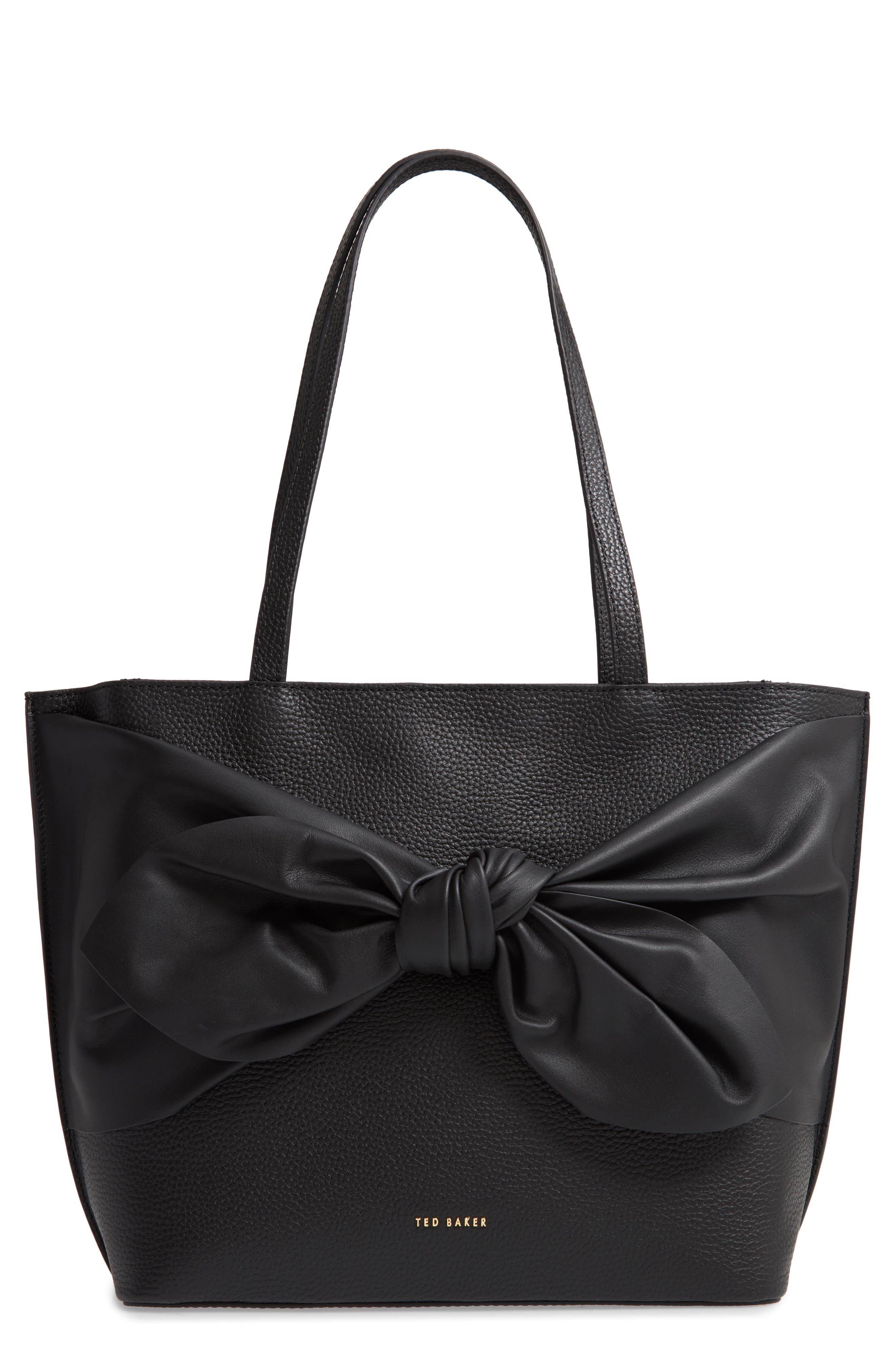 Ted Baker London Totes Diiana Soft Knot Detail Leather Shopper
