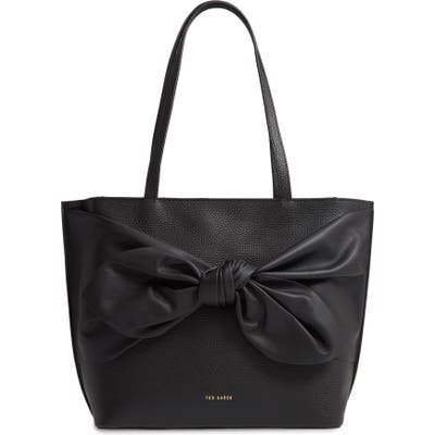 Ted Baker London Diiana Soft Knot Detail Leather Shopper -