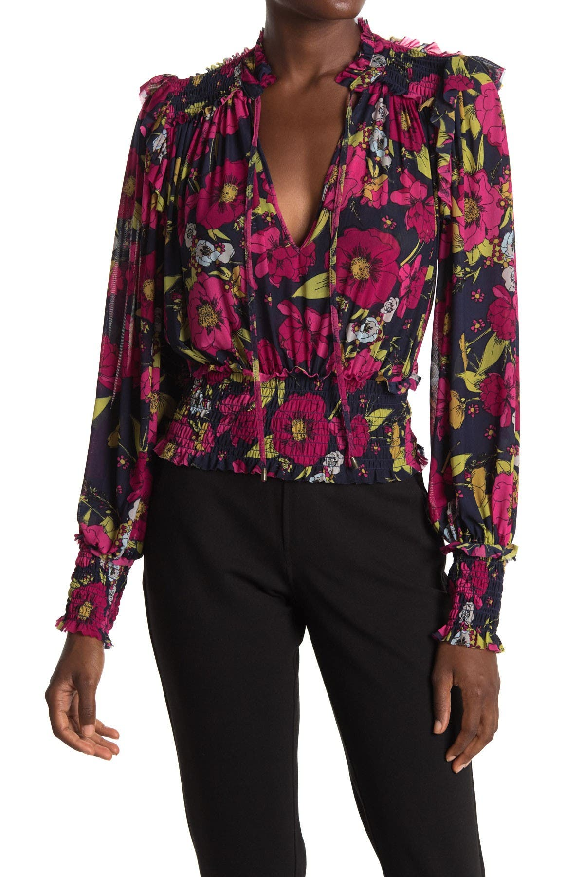 Image of Free People Twilight Floral Print Top