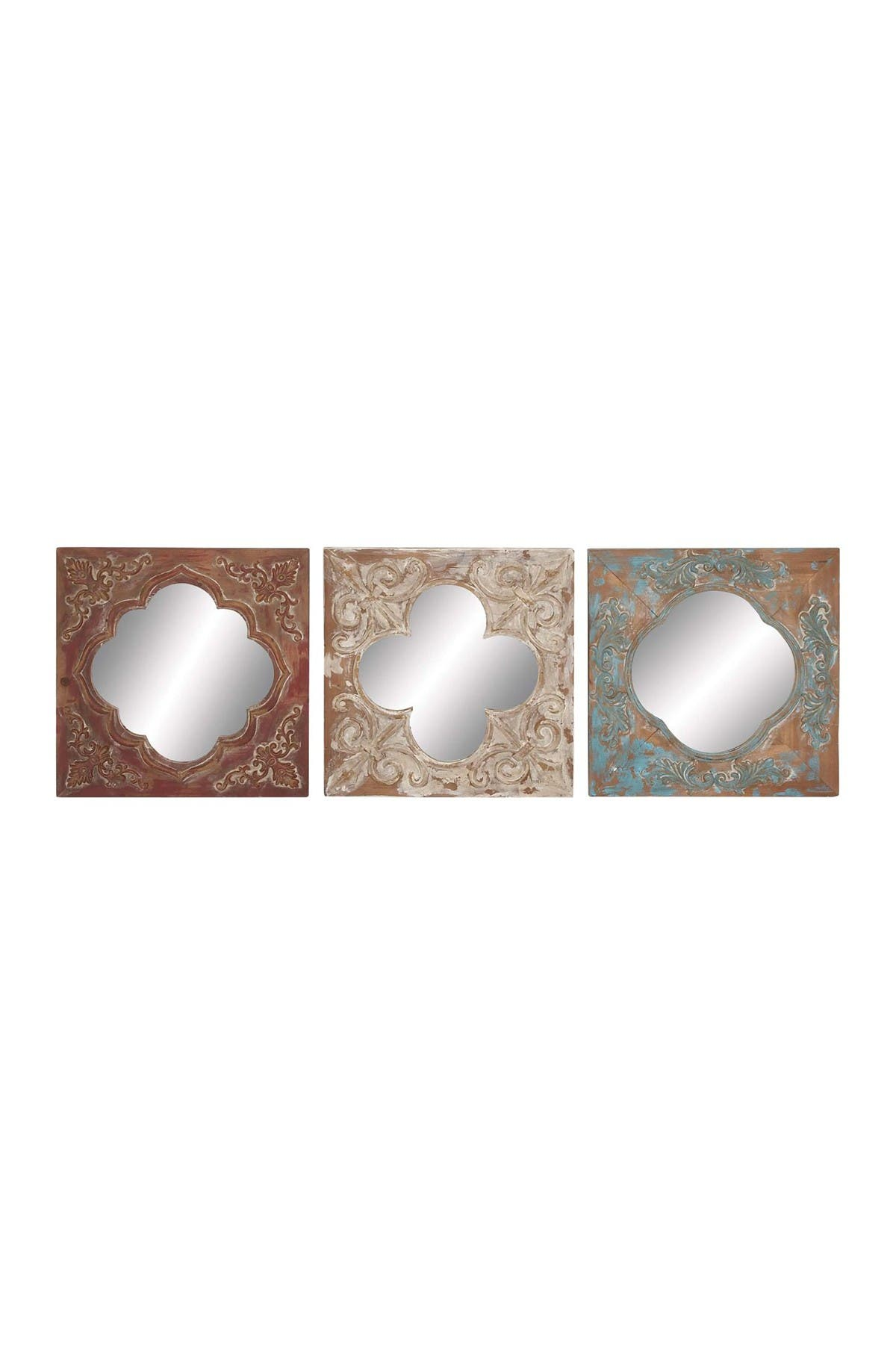 """Image of Willow Row Moroccan Tile Mirrors - 16"""" x 16"""" - Set of 3"""