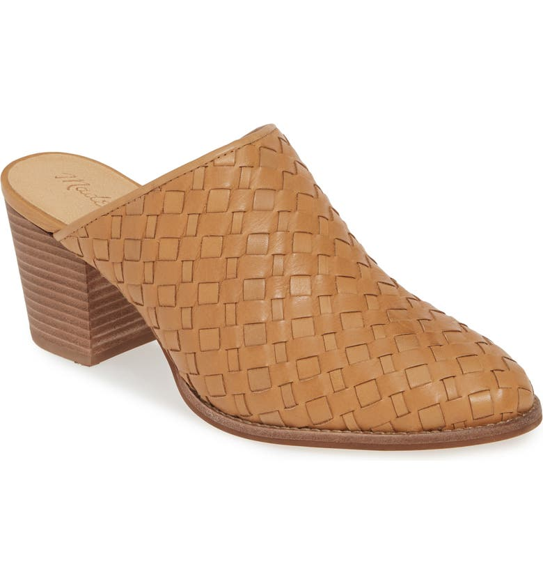 MADEWELL The Harper Woven Mule, Main, color, AMBER BROWN