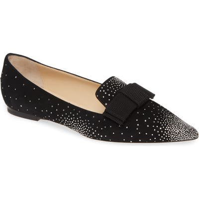 Jimmy Choo Gala Bow Flat - Black