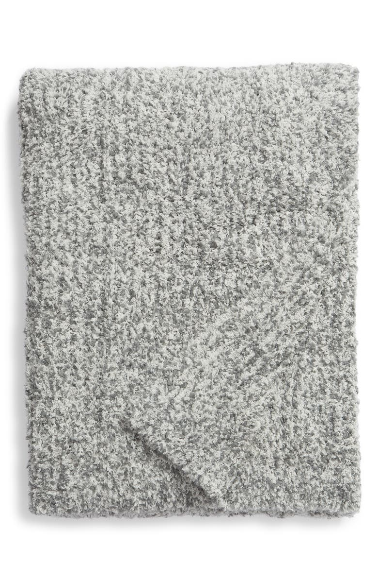 BAREFOOT DREAMS<SUP>®</SUP> Chunky Bouclé Knit Throw Blanket, Main, color, CREAM/ GRAPHITE