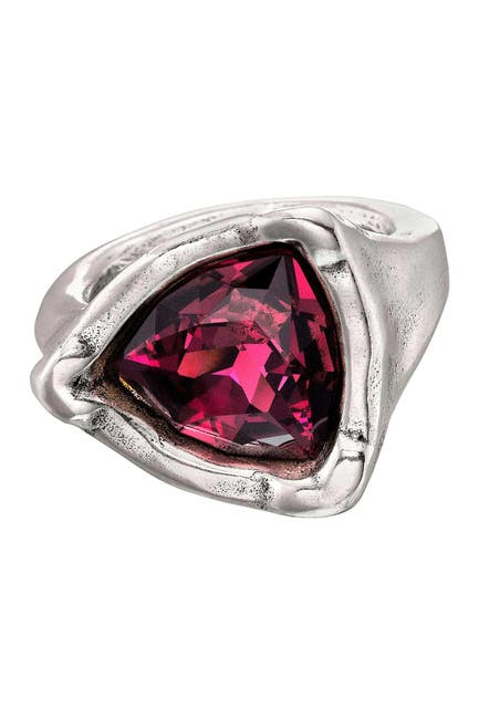Image of Uno De 50 Star-Trick Ruby Swarovski Crystal Geometric Ring