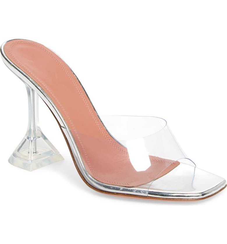 AMINA MUADDI Lupita Glass Sandal, Main, color, TRANSPARENT