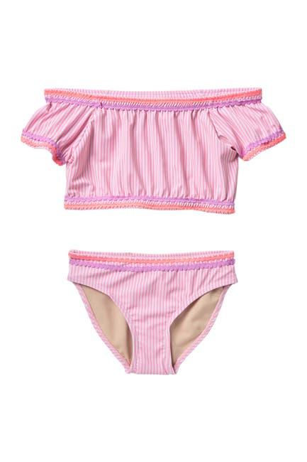 Image of Shade Critters Seersucker 2-Piece Bikini Swimsuit Set