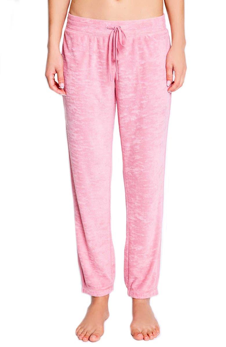 PJ SALVAGE Crop Terry Lounge Pants, Main, color, 950