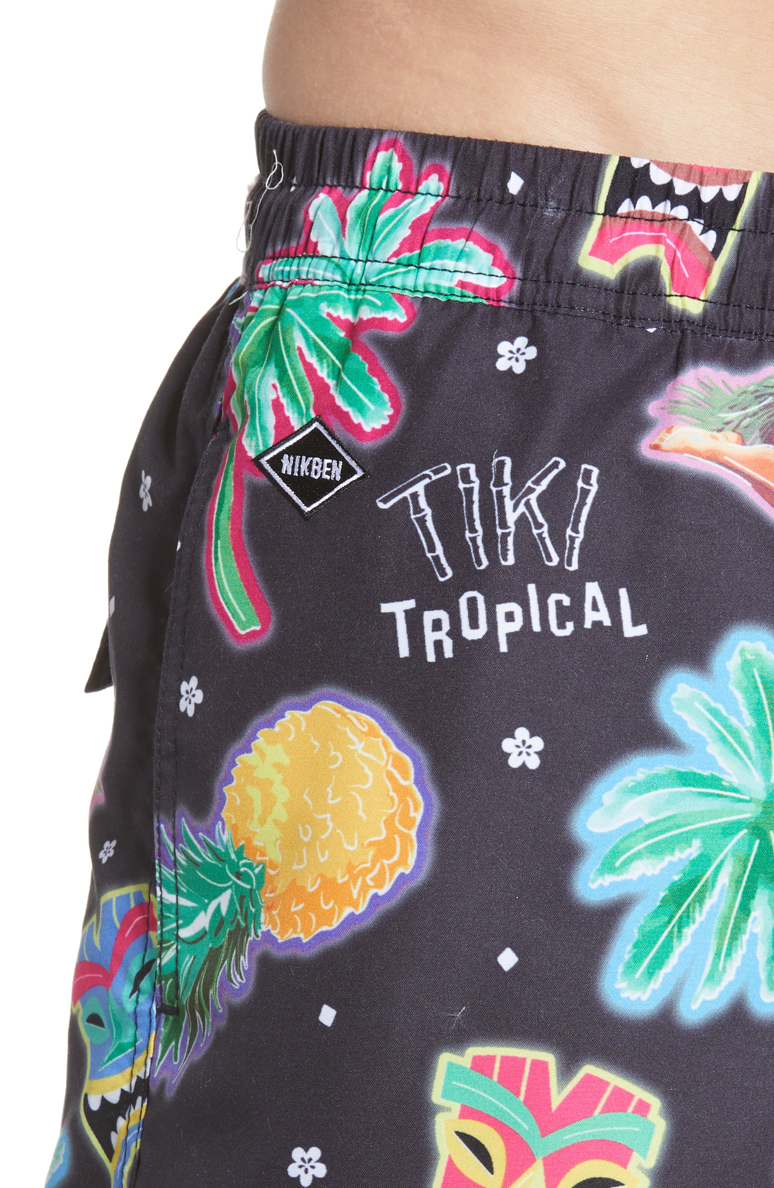 ,                             Tiki Tropical Swim Trunks,                             Alternate thumbnail 4, color,                             MULTI