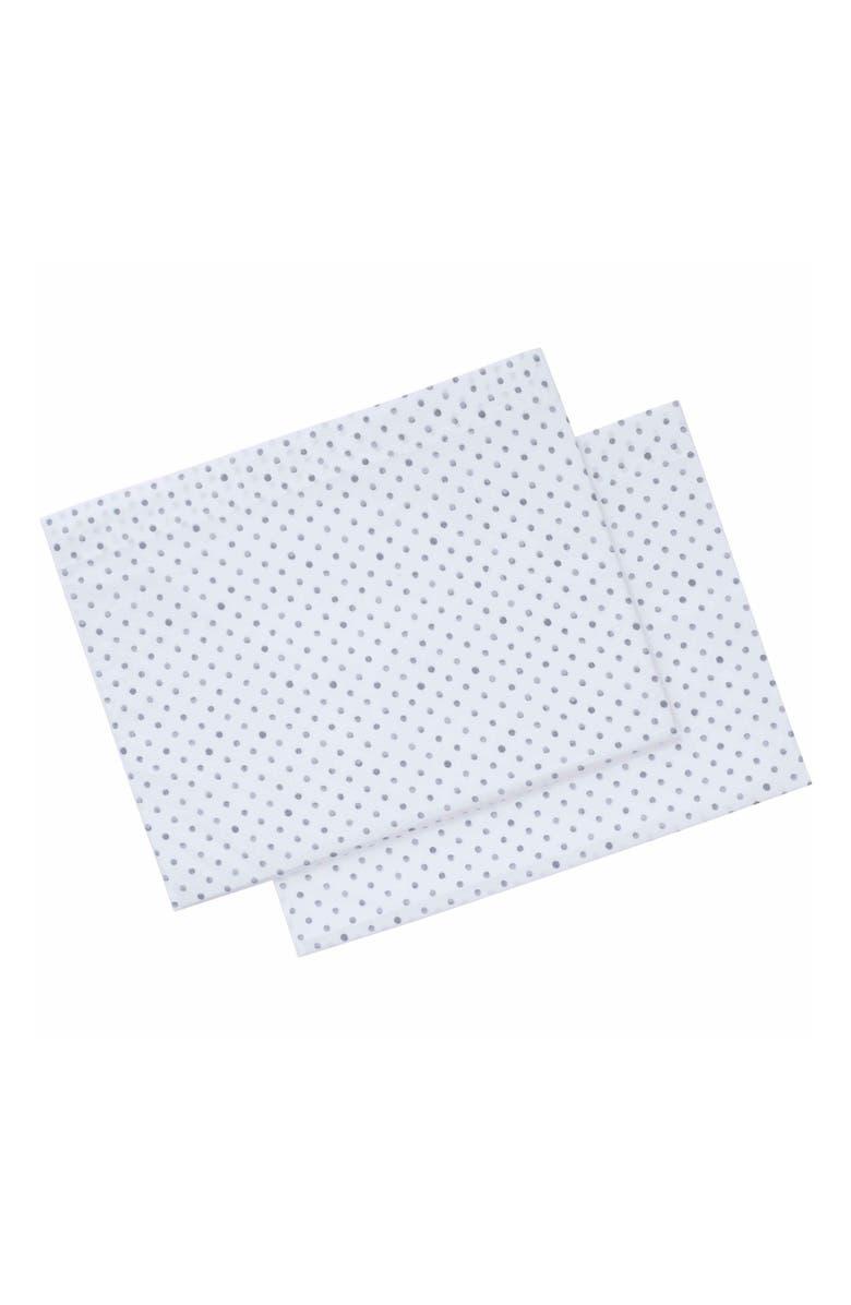 ED ELLEN DEGENERES Watercolor Dots Set of 2 Pillowcases, Main, color, GREY