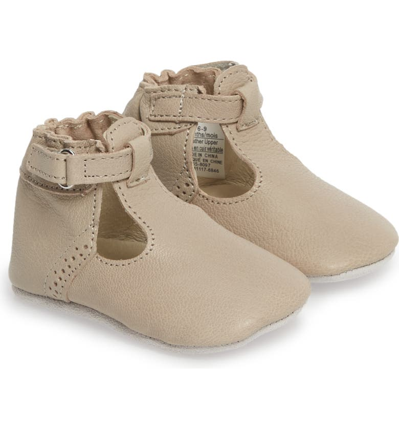 ROBEEZ<SUP>®</SUP> Penny T-Strap Mary Jane Crib Shoe, Main, color, 250