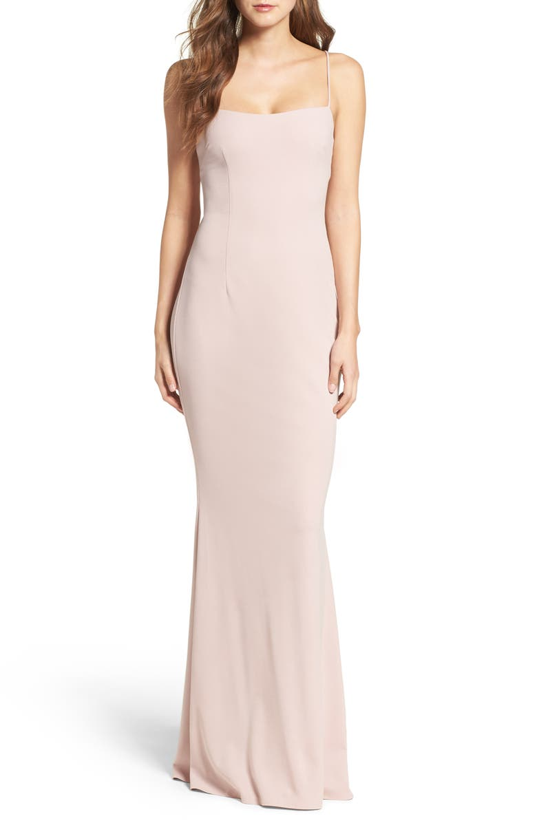 KATIE MAY Jean Stretch Crepe Gown, Main, color, 020