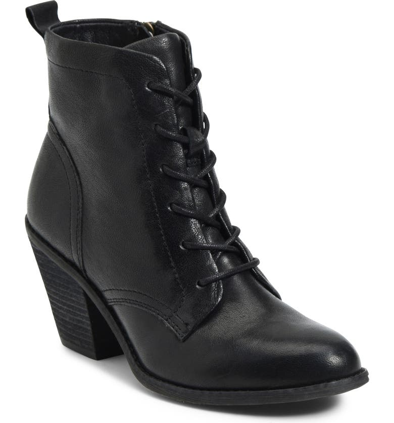 SÖFFT Tagan Lace-Up Boot, Main, color, BLACK LEATHER