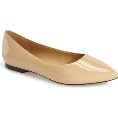 Trotters Estee Pointed Toe Flat, Beige
