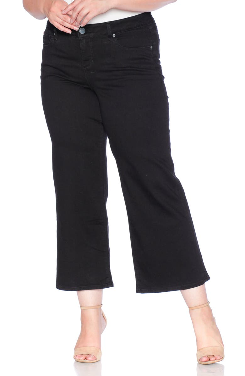 SLINK JEANS Wide Leg Crop Jeans, Main, color, 005