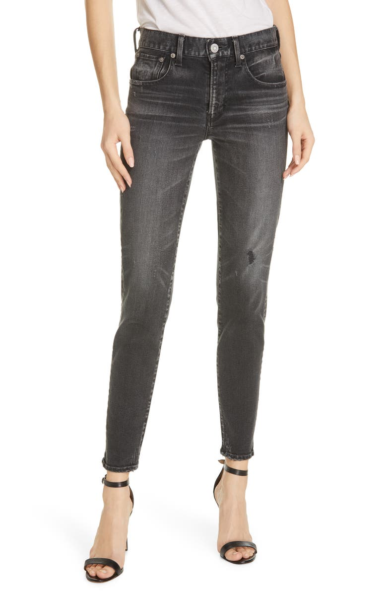 MOUSSY VINTAGE Velma Skinny Jeans, Main, color, BLACK