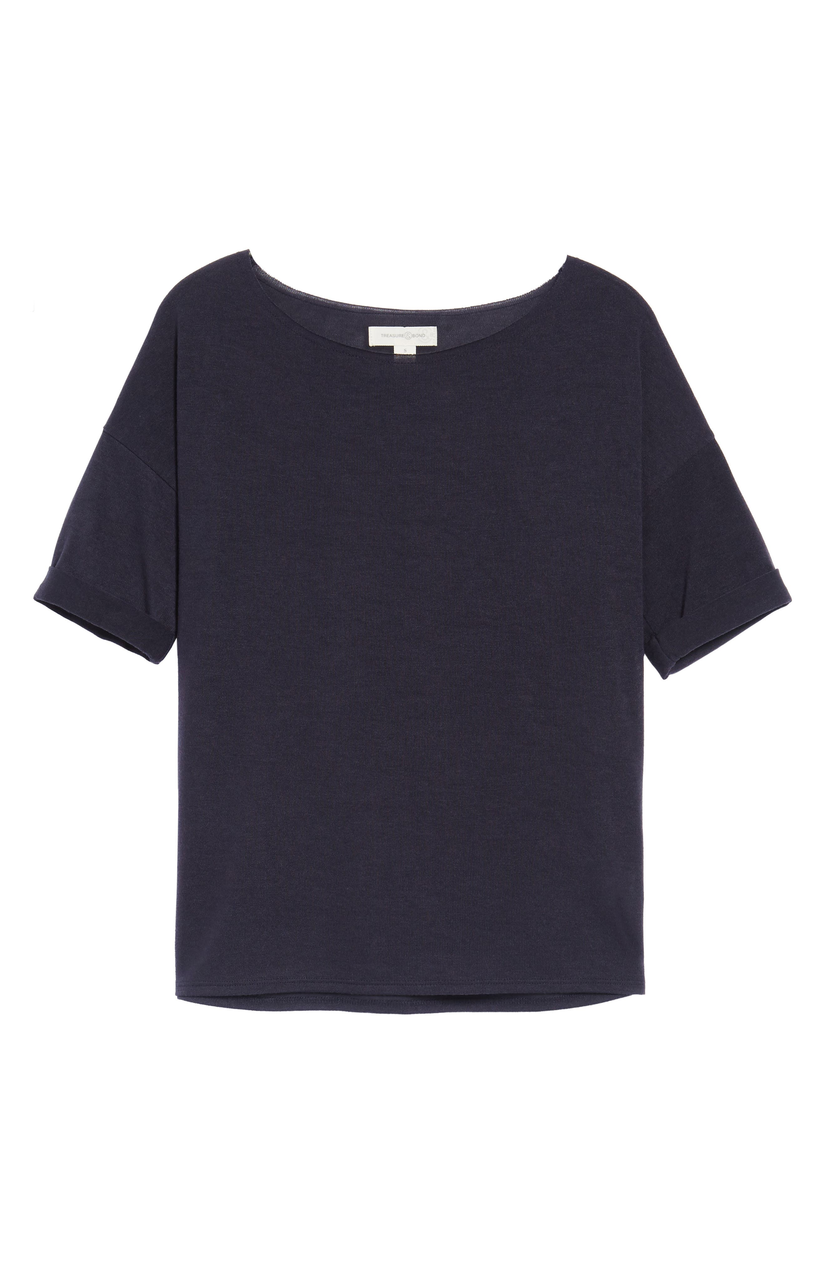 ,                             x Something Navy Easy Tee,                             Alternate thumbnail 19, color,                             400