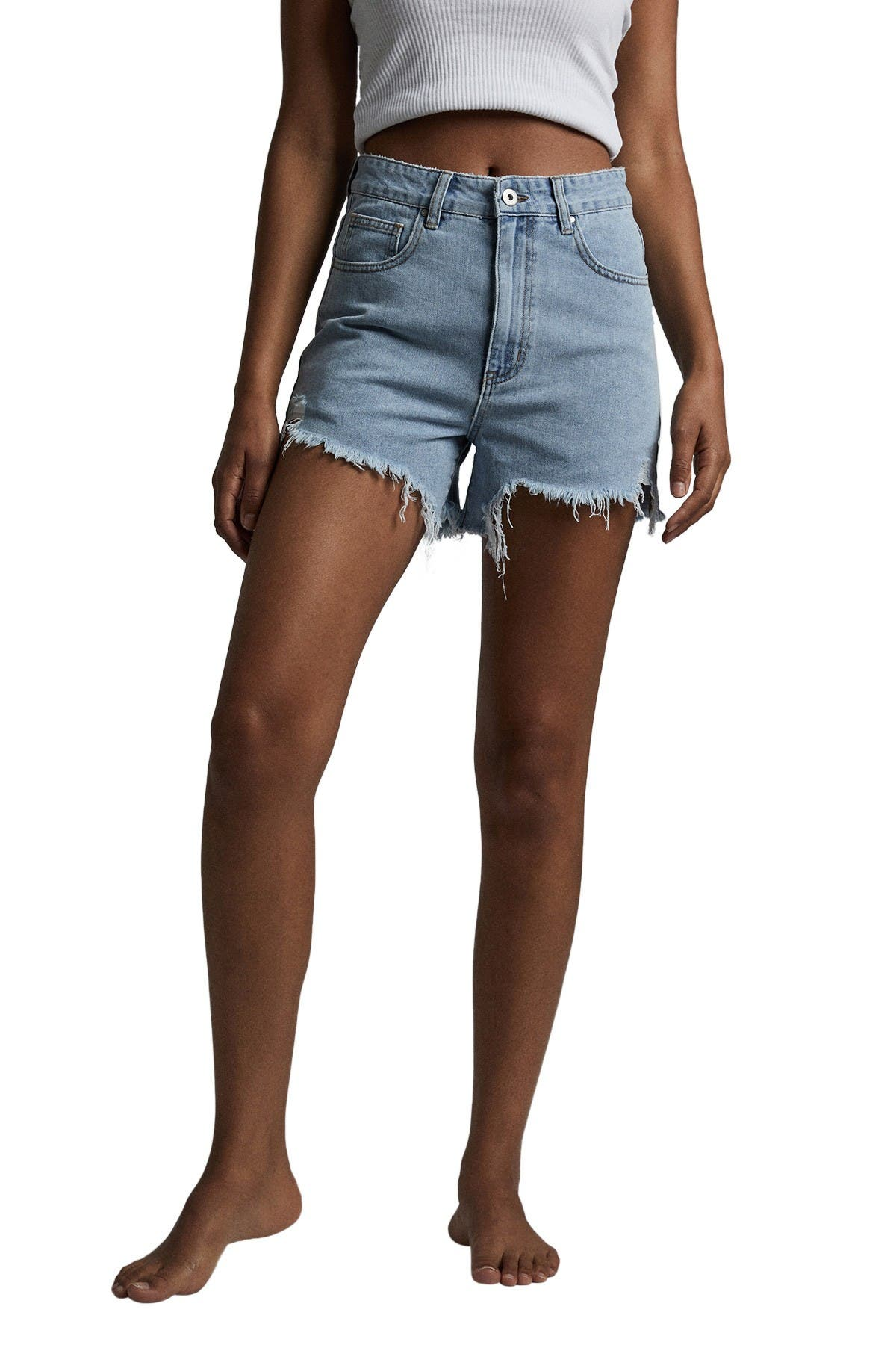 Image of Cotton On High Ripped Denim Shorts