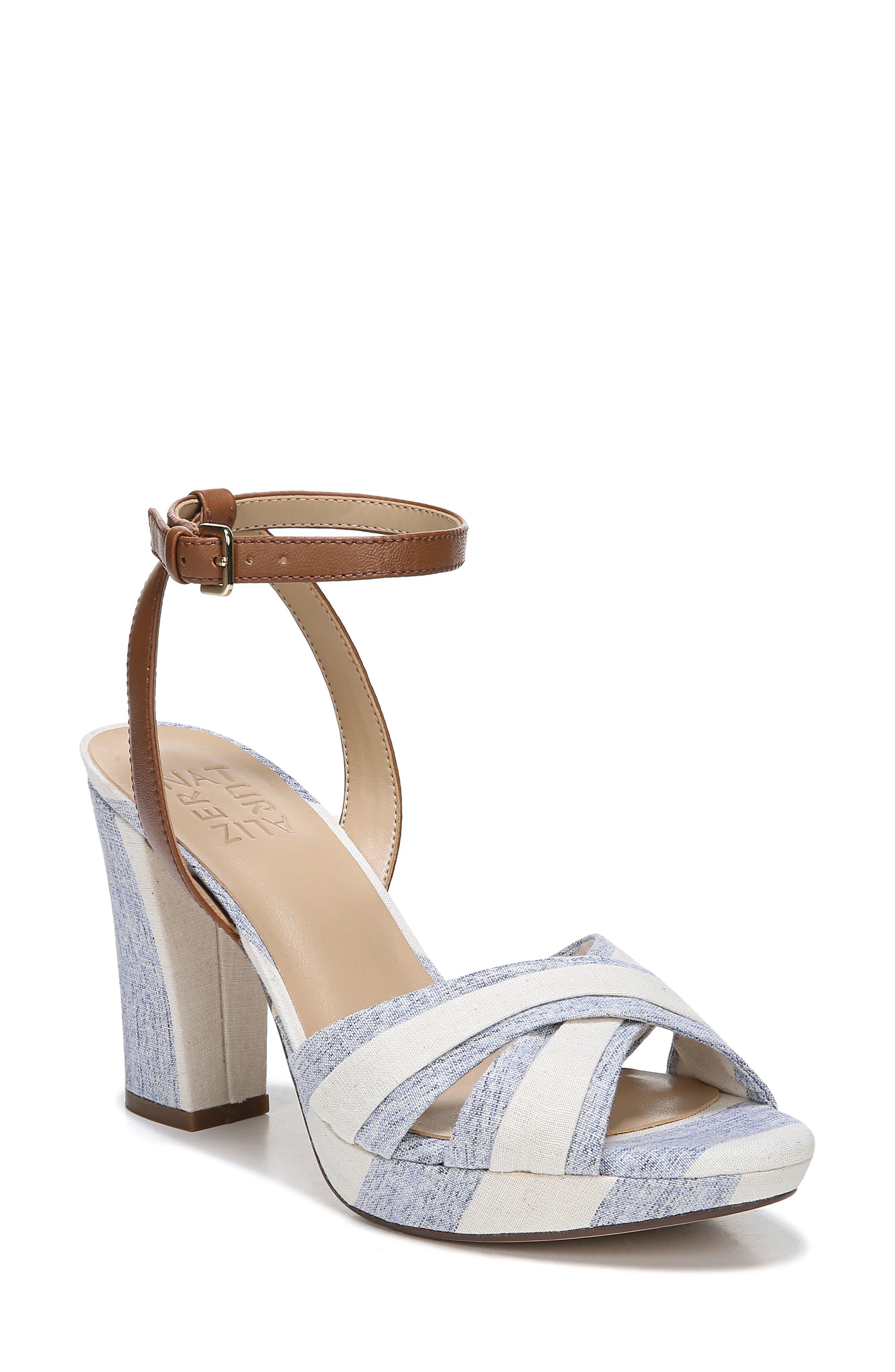Naturalizer Avril Ankle Strap Sandal, Blue
