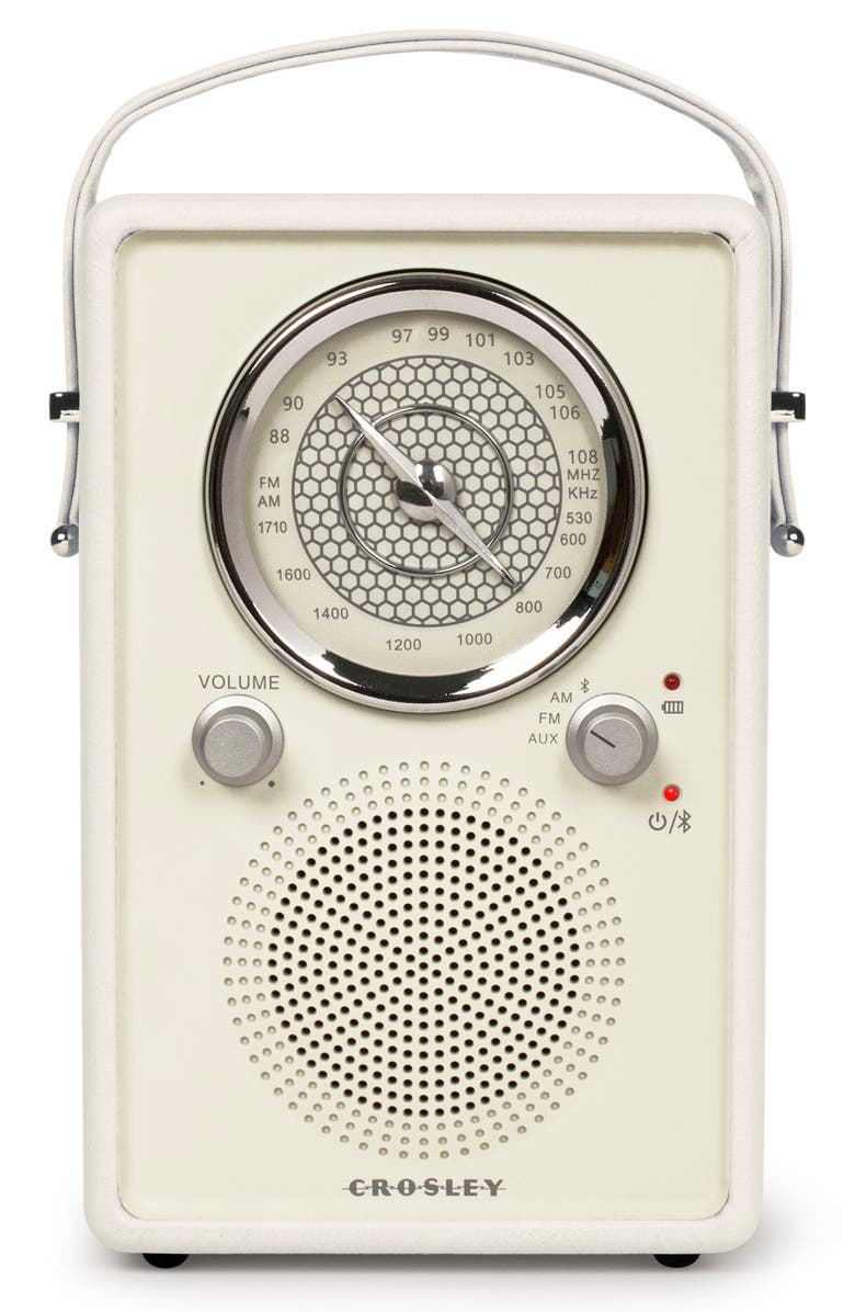 CROSLEY RADIO Mockingbird Bluetooth<sup>®</sup> Radio, Main, color, WHITE