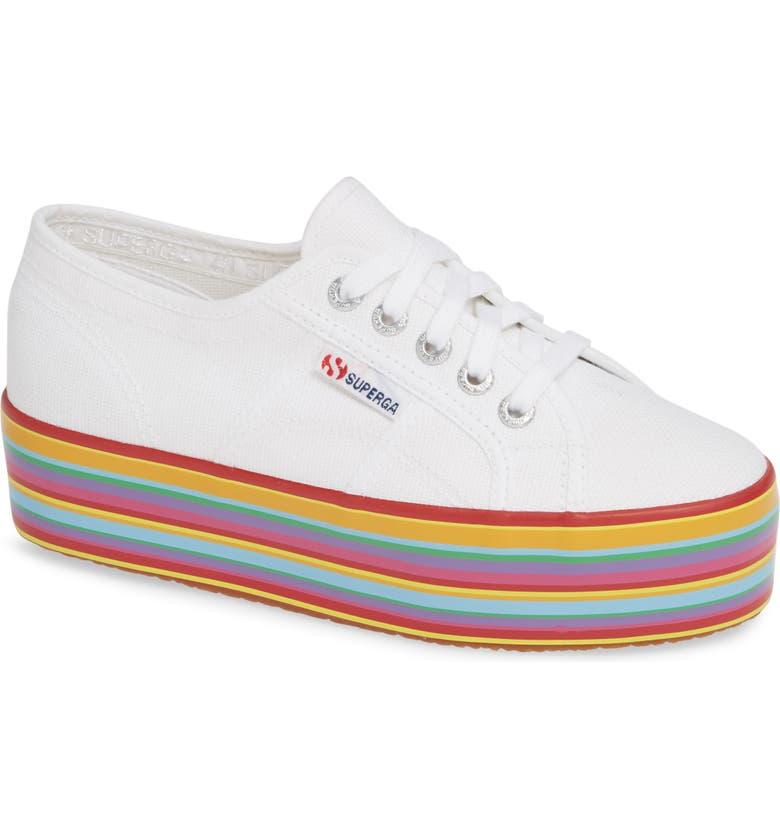 SUPERGA 2790 Platform Sneaker, Main, color, 100