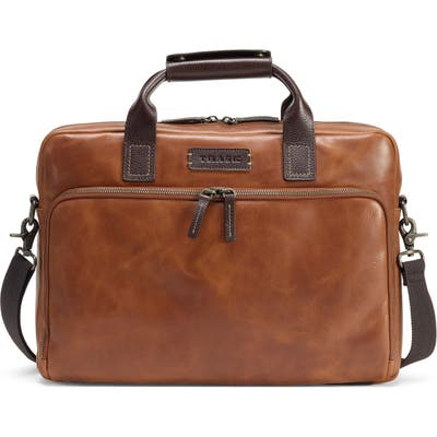 Trask Sutton Slim Briefcase - Brown