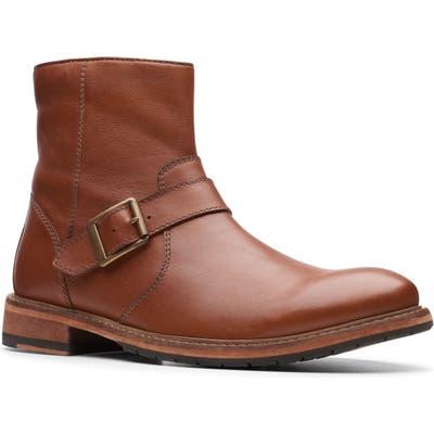 Clarks Clarkdale Zip Boot- Brown