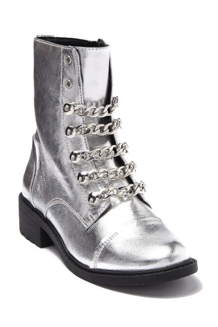 Image of CIRCUS BY SAM EDELMAN Dacey Metallic Chain Combat Boot