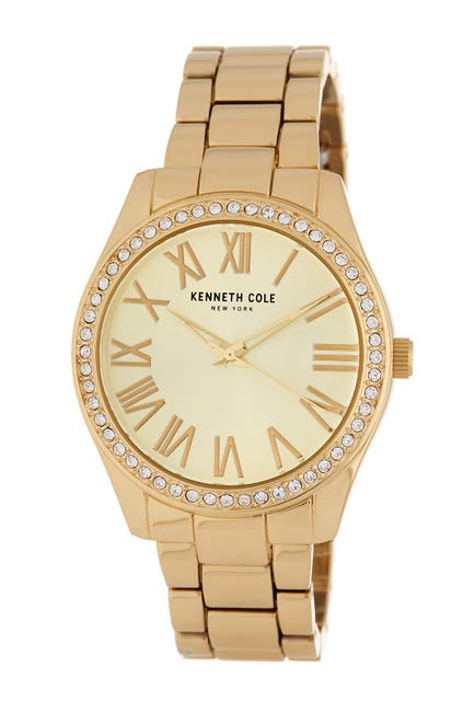 Image of Kenneth Cole New York Women's 3-Hand Crystal Accented Bracelet Watch, 38mm