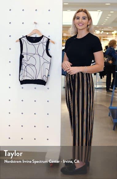 Binx Chain Link Print Wool Blend Top, sales video thumbnail