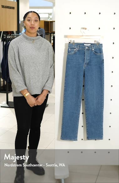 High Waist Straight Leg Jeans, sales video thumbnail