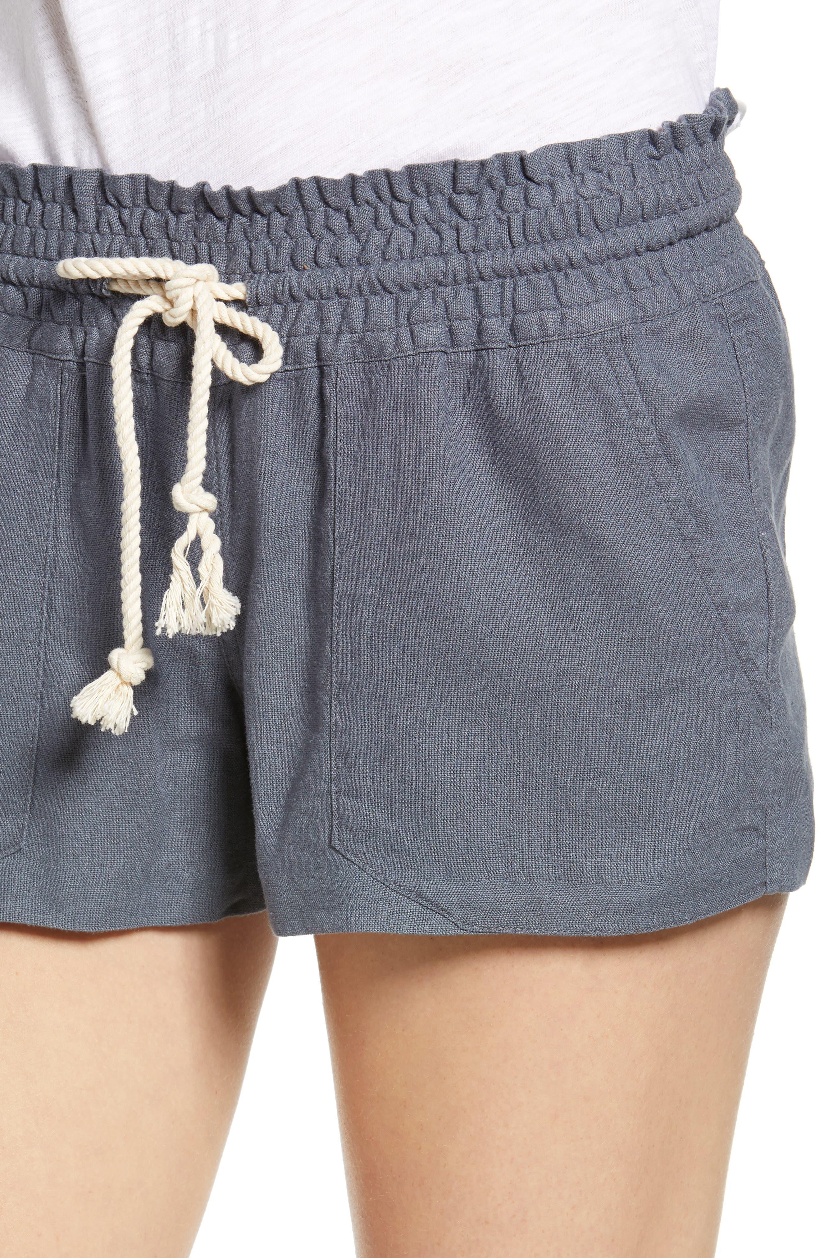 ,                             'Oceanside' Linen Blend Shorts,                             Alternate thumbnail 4, color,                             020