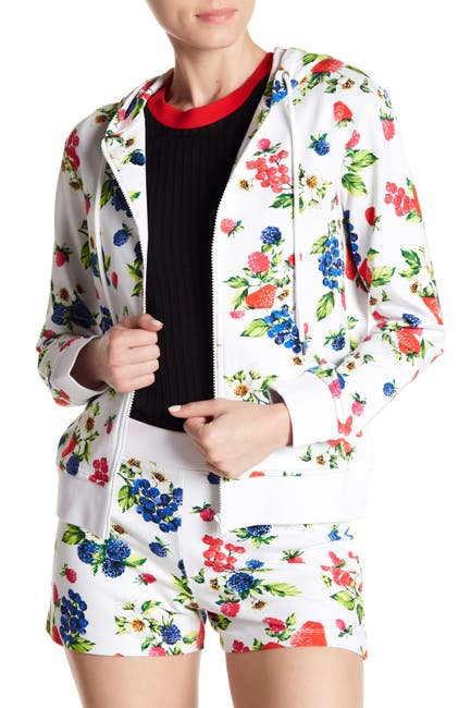Image of LOVE Moschino Fruit Printed Hooded Jacket