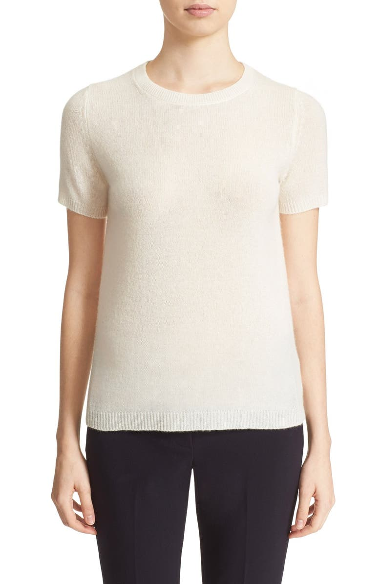 'Tolleree B' Short Sleeve Cashmere Sweater