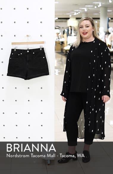 High Waist Raw Hem Denim Shorts, sales video thumbnail