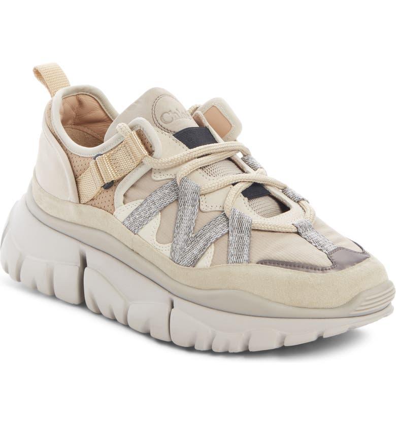 CHLOÉ Blake Platform Sneaker, Main, color, SOOTY BEIGE