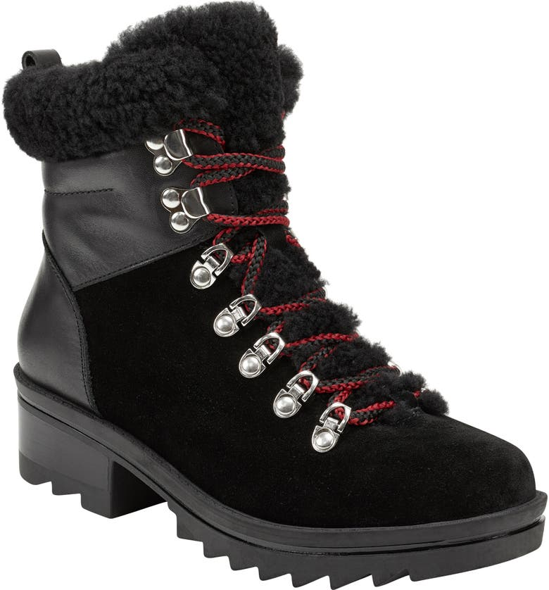 MARC FISHER LTD Brylee Water Resistant Boot, Main, color, BLACK SUEDE