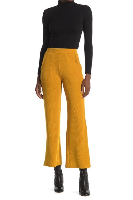 Image of Elodie High Waist Wide Leg Rib Knit Pants