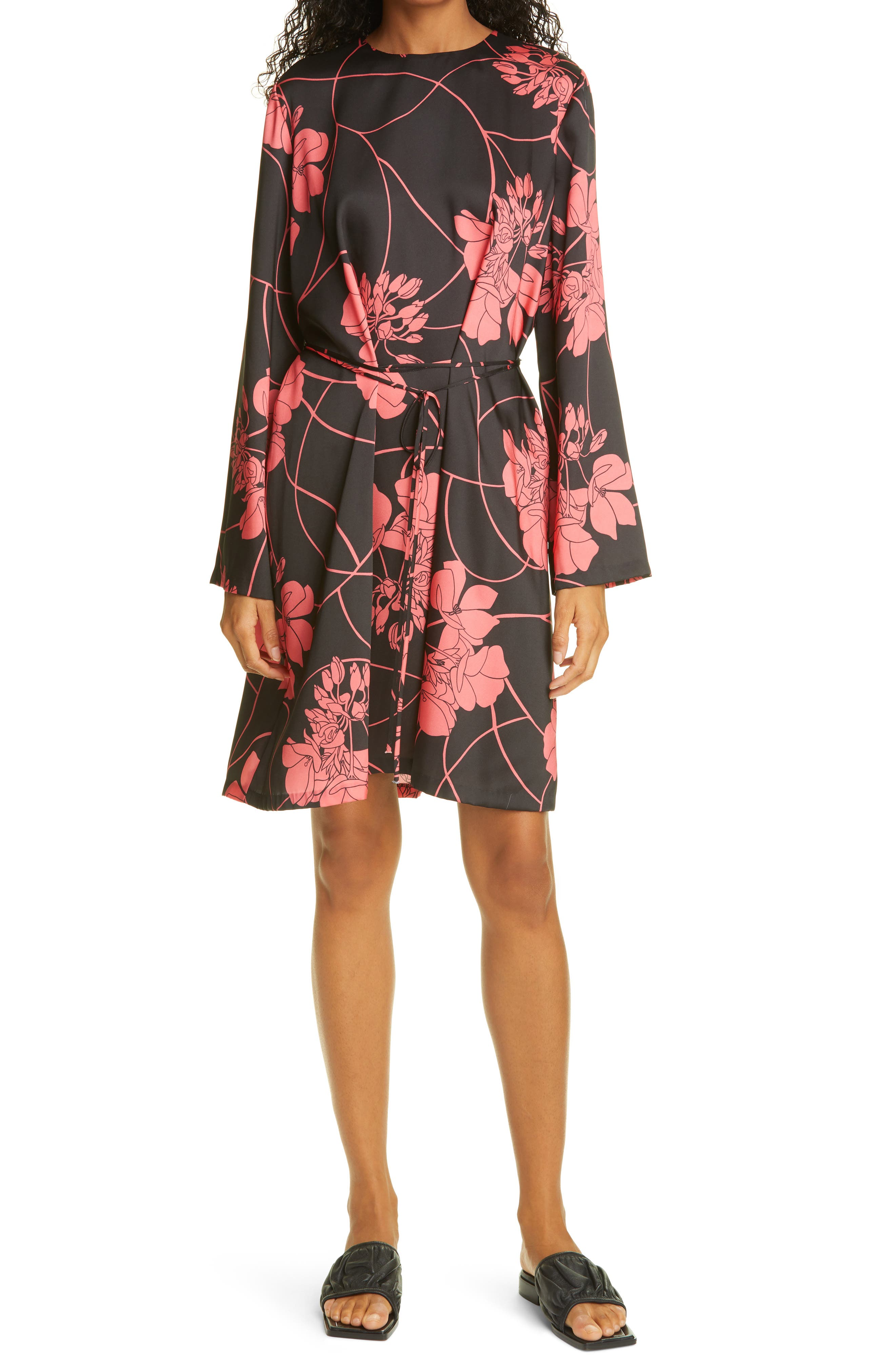 Fae Floral Print Tie Waist Dress